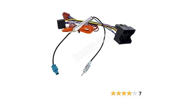 Sound-Way Cable Adaptador, Conector ISO para Radio y Adaptador Antena Amplificado Fakra compatible con CORSA, COMBO, MERIVA