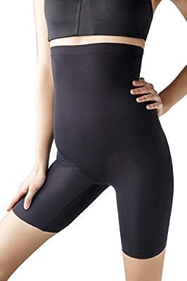 MD Women's Seamless Tight Shorts Underwear Boyshort High Waist Panties Light Tummy Control Shapewear Legging