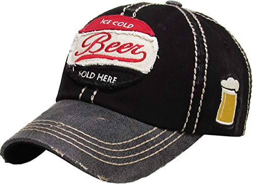 Funky Junque BHM-205-BEER-06 - Mens Baseball Cap - Beer - Black