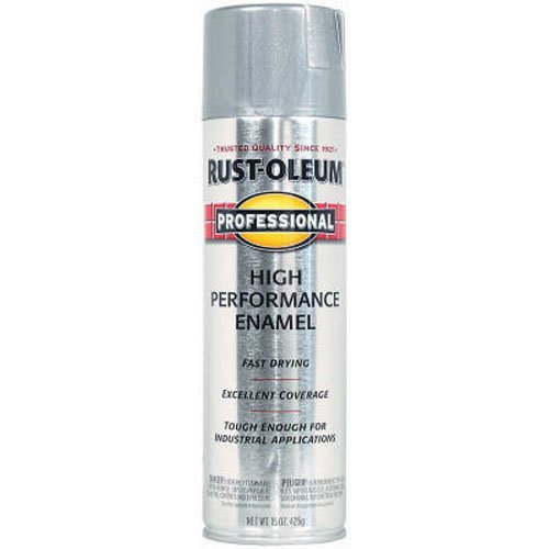 Rust-Oleum 7515838 Professional High Performance Enamel Spray Paint, 14 oz, Aluminum ()
