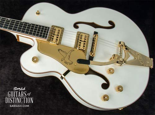 (Gretsch G6136TLH-WHT Players Edition White Falcon Left-Handed Hollow Body Electric Guitar (SN:JT17103125))