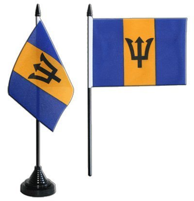 Barbados Table Flag 4 x 6 inch by Digni