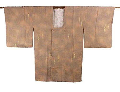 リサイクル 道行コート  地紋起こし 正絹 竹の意匠 裄65cm 身丈87cm