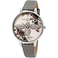 Olivia Burton Embroidered Dial 3D Bee Grey Dial Women's Watch