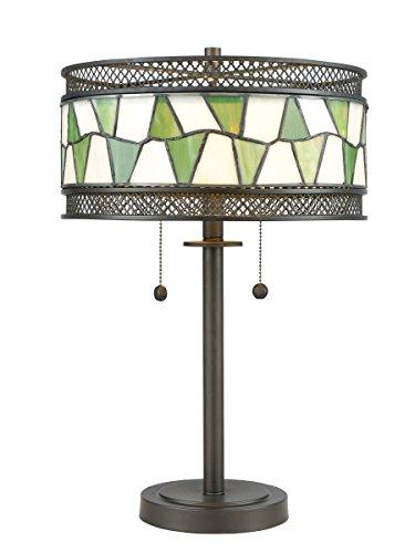 Dale Tiffany TT17114 Rainy Slate Table Lamp, 23.25