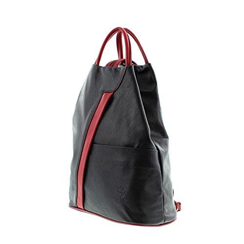 per noir à sac le à en bretelles IO main dos MIO à Icone® femme pour IO Sac port Borsetta rouge q0xUBpt