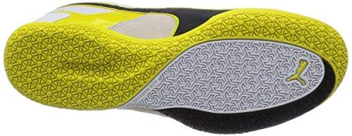 Puma Invicto Sala - Zapatillas de fútbol sala de material sintético para hombre blanco - Weiß (white-black-sulphur spring 02)