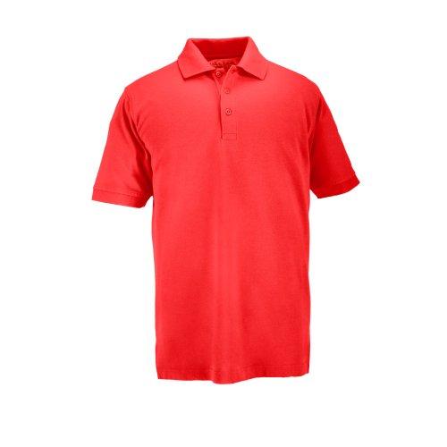 5.11 Tactical Mens Short-Sleeve Professional Polo, Range Red, Medium