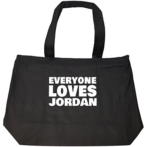 Everyone Loves Jordan Funny Male First Name Gift - Tote Bag With Zip by We Add Up
