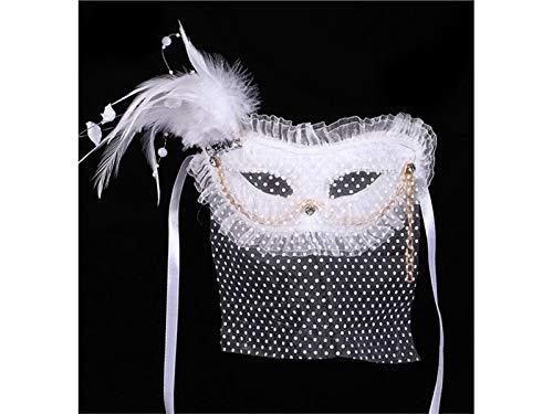 Decorazione Pizzo Vestito Del Piuma Maschera Maschera Cosplay Una Di Maschera Con Artificiale Fantasia Puntelli Buona Costume bianco Natale In Per Lovke gpFRqw