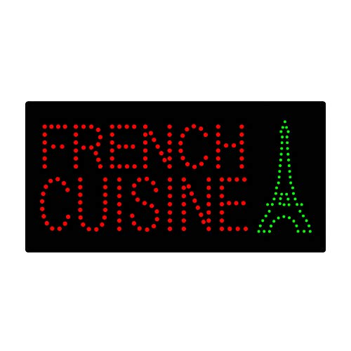 Espresso Outdoor Led Sign - LED Bistro Creperie Open Light Sign Super Bright Electric Advertising Display Board for French Cafe Crepe Bakery Restaurant Coffee Business Shop Store Window Bedroom 19 x 10 inches