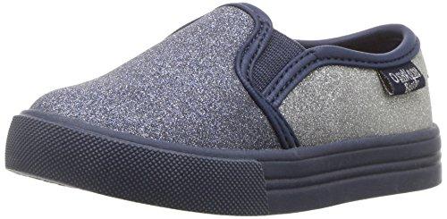 - Oshkosh B'Gosh  Girls' Edie Slip-on Sneaker, Navy/Silver, 11 M US Little Kid