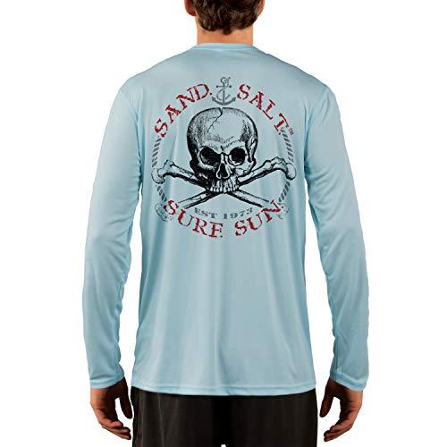 SAND.SALT.SURF.SUN. Red Skull Mens UPF 50+ Long Sleeve T-Shirt