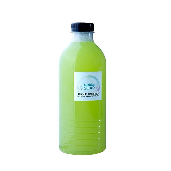 Juguetrónica - Bubble Soap - Botella de 1 litro de jabón para pompas XXL: Amazon.es: Juguetes y juegos