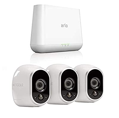 Arlo by Netgear Security System with 3 HD Cameras (VMS3330) and Gen 4 Pro Base (VMB4000)