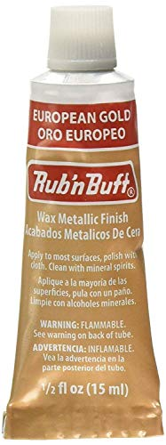 AMACO Rub 'n Buff Wax Metallic Finish, European Gold, 0.5-Fluid Ounce from AMACO