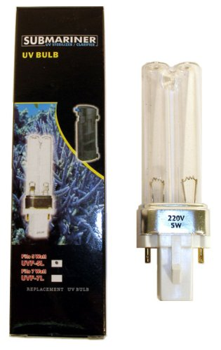 JBJ SUBMariner UV Sterilizer Replacement 5 Watt UV-C (Jbj Uv Sterilizer)