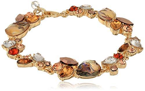 Napier Women's Multicolored Boxed Stone Flex Link Bracelet