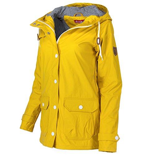 derbe Peninsula - Parka de mujer, color amarillo amarillo