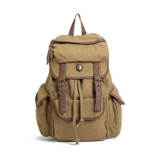 Students Of Men And Women Fashion Bag Multi-function Leisure Travel Canvas Messenger Bag Laptop Yellow