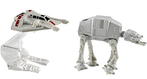 Hot Wheels Star Wars Starship 2-Pack, Snowspeeder  vs. AT-AT