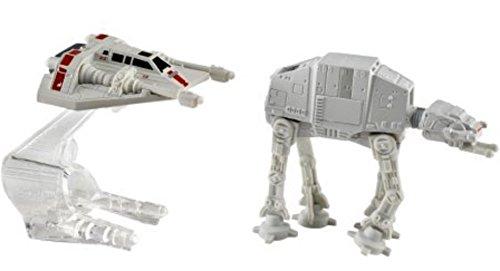 Mattel Star - Mattel Hot Wheels Star Wars Starship 2-Pack, Snowspeeder (Orange) vs. AT-AT