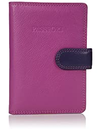 Visconti RB 75 Multi Colored Passport Holder Cover Case / Wallet (Pink Multi)