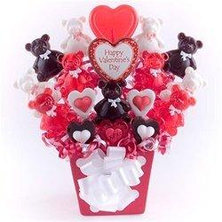 (Bear-y Sweet Hugs Lollipop Bouquet)