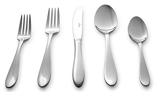 (Culina Lorena 20 pcs Flatware for 4 18/10 Stainless Steel Silverware, Mirror Finish)
