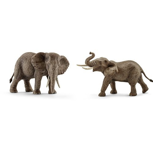 African Elephant, Female and African Elephant, (Schleich African Male Elephant)
