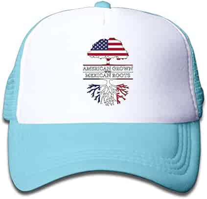 79f8a24f American Grown with France Roots Kids Toddler Boys Girls Adjustable Mesh Cap  Snapback Mesh Baseball Hat