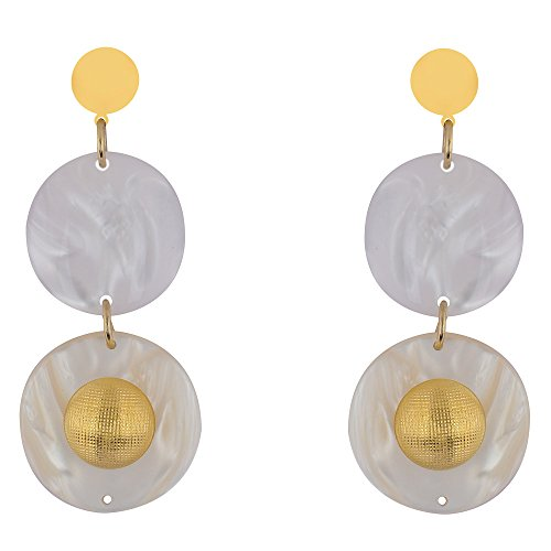 Shaze Gold Colored Snow Song Earrings for Women by shaze