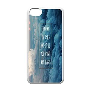 Zachcolo Jesus Christ Quotes IPhone 5C Case Jesus Christ Quotes,You Own the Skies and Still You Want My Heart, Fashionable Jesus Christ Quotes, {White}