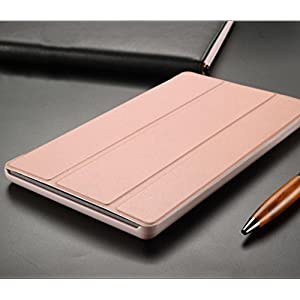 Elaco With Auto Wake Sleep For Amazon KindleFire HD 8 Tablet(6th Gen,2016) Case Cover (Rose Gold)