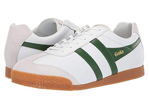 Gola Men's Harrier Leather White/Green 10 D ()