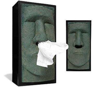 Tiki Head Facial Tissue Box Holder. Cover Dispenser Face Easter Island Retro NEW (tissue box) (Tissue Box Cover Rudy)