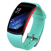 Gear Fit 2 / Fit2 Pro Bands, V-Moro Accessories Softer Silicone for Samsung Gear Fit2 and Fit2 Pro Smartwatch (Mint Green, Small)