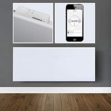 Adax Neo WiFi de Smart Home acoplador de konvektions de panel radiador, calefacción 400W Weiß