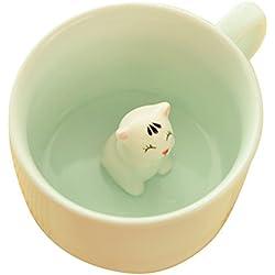 Alien Storehouse Gato de la Historieta de los Amantes de la Moda Taza de cerámica de café