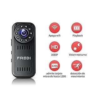Fredi c mara esp a hd 1080p mini c mara oculta port til for Camaras de vigilancia ocultas para exterior