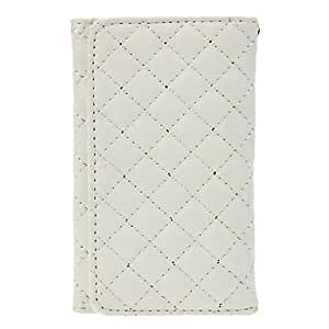 Mini - Deluxe Soft Leather White Purse with Card Slot and Interior Flocking Protection for iPhone 5/5S/5C