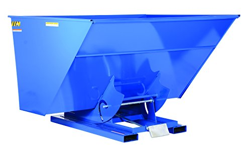 Vestil-D-300-HD-Heavy-Duty-Self-Dumping-Hopper-with-Bumper-Release-Steel-6000-lb-Capacity-Overall-L-x-W-x-H-in-68-58-x-81-34-x-51-1316-Blue