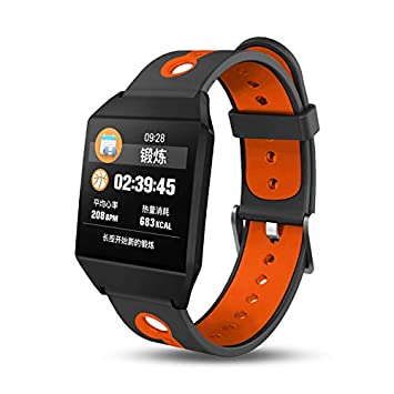 ... 1,3 Pulgadas de Pantalla a Color de Anillo de la Mano Inteligente W1 Caminar Ritmo cardiaco Bluetooth Reloj Inteligente,Orange: Amazon.es: Electrónica