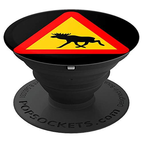 - Warning Sign Moose - PopSockets Grip and Stand for Phones and Tablets