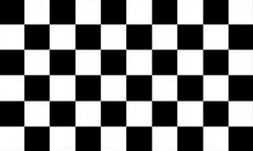 Perfectflags Chequered Black White Flag 8ft x 5ft Huge - 100% Polyester - Metal Eyelets - Double -