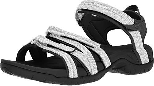 Teva Women's W Tirra Sport Sandal, Black/White Multi, 7.5 M US