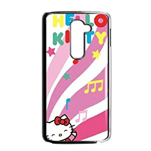 LG G2 Cell Phone Case Black_Hello Kitty Dancing Notes TR2282010