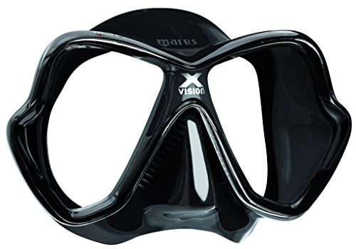 [Mares X-Vision Scuba Diving Silicone Mask, Black] (Mares Compact)