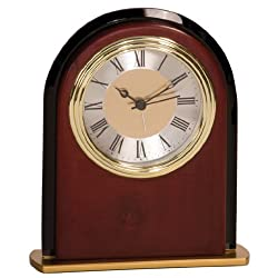 Personalized 6 1/2 Mahogany Finish Arch Clock - BRAND NEW