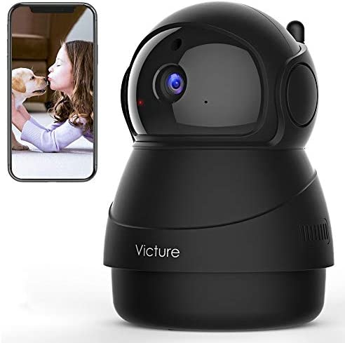 [2020 Upgraded] Victure 1080P Pet Camera, Wi-Fi IP Camera, Indoor Security Camera for Pet/Baby/Elder, 2.4G Home Camera with Motion Detection/Night Vision/2 Way Audio/Cloud Service, App-Victure Home